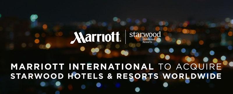 Гостиничная сеть Marriott покупает сеть Starwood