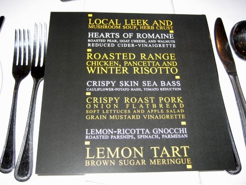 Marriott-Individual-Menu-Card