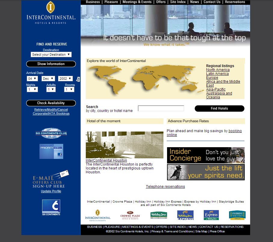 InterContinental-Hotels-website