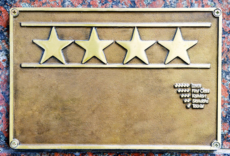hotel-european-rating-sign