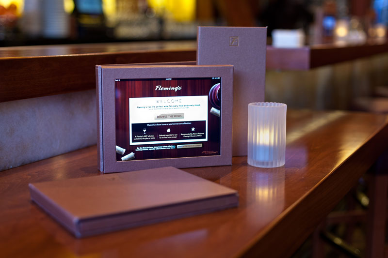 Wine Ipad Menu для гостей ресторана
