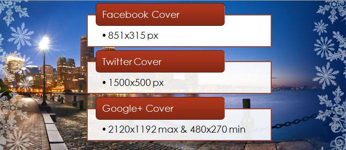 Размеры обложек (шапок) в популярных социальных сетях