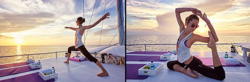 Йога на яхте для гостей W Hotels