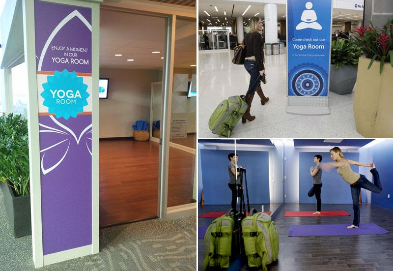 Зоны для занятий йогой в международных аэропортах