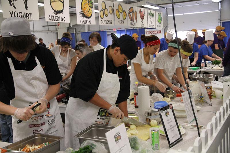 кулинарный конкурс Iron Chef-style