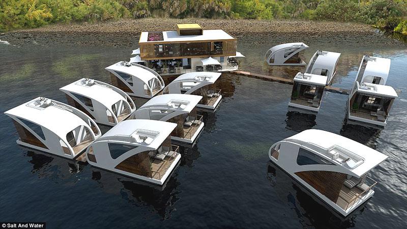 Плавающий отель-катамаран