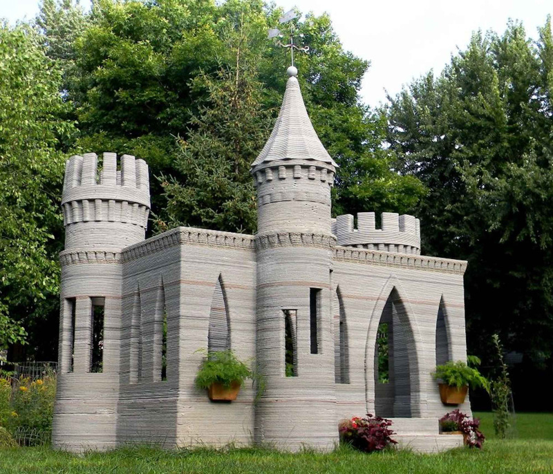 Первый в мире замок, напечатанный на 3D-принтере