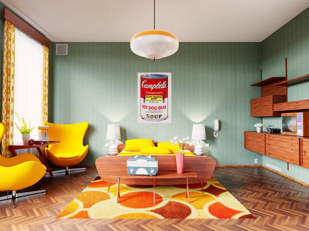 гостиничный номер в 1960
