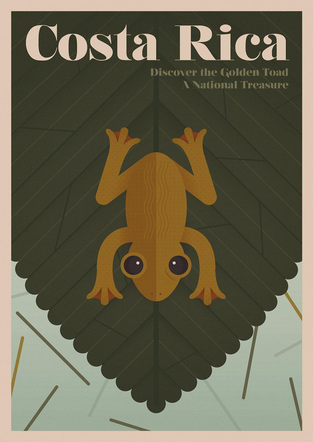 Коста-Рика: Оранжевая жаба