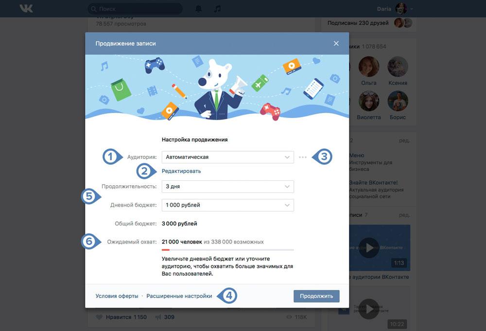 продвижение записей сообществ Вконтакте