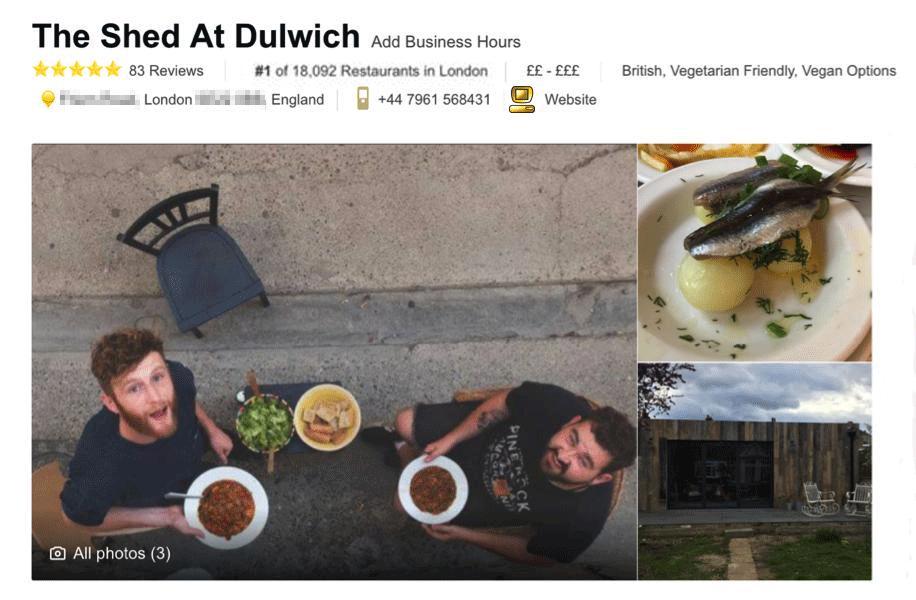 сарай стал лучшим рестораном по версии TripAdvisor