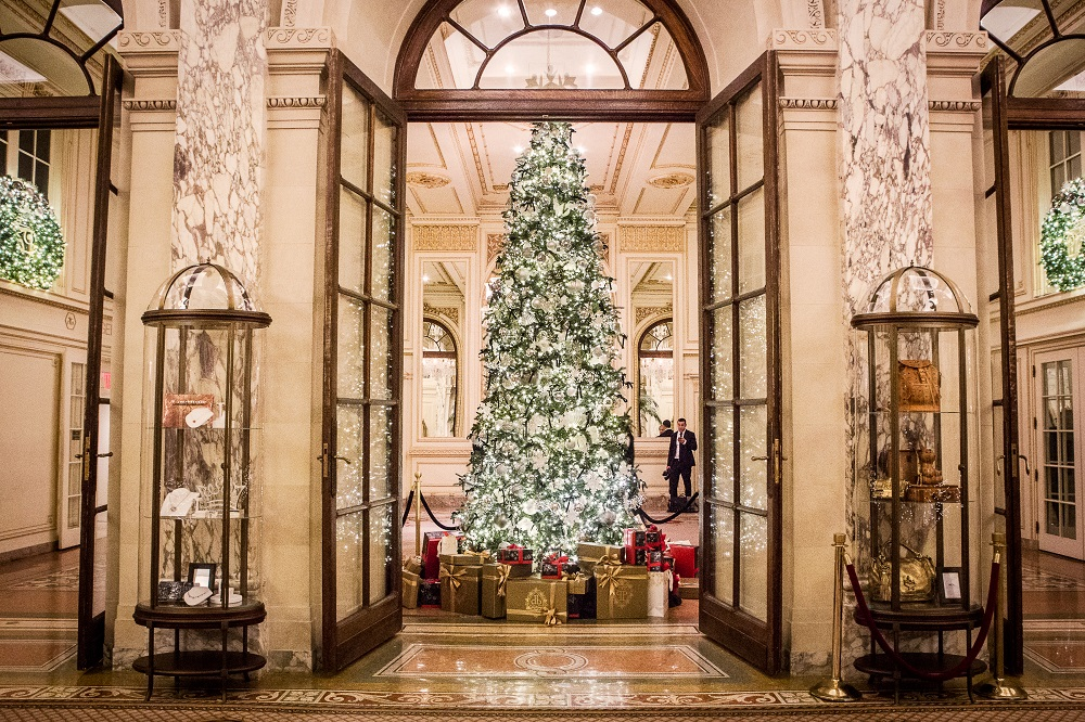 The Plaza Hotel New year tree