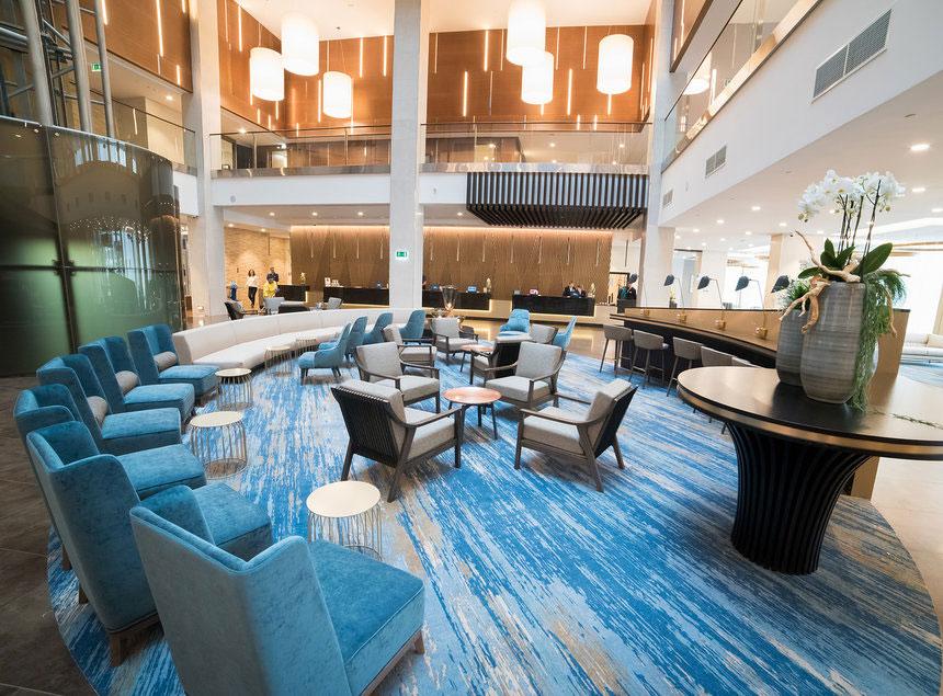 Hilton business lobby