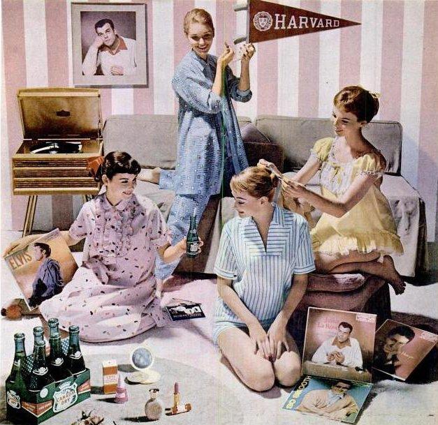 Пижамная вечеринка в стиле ретро