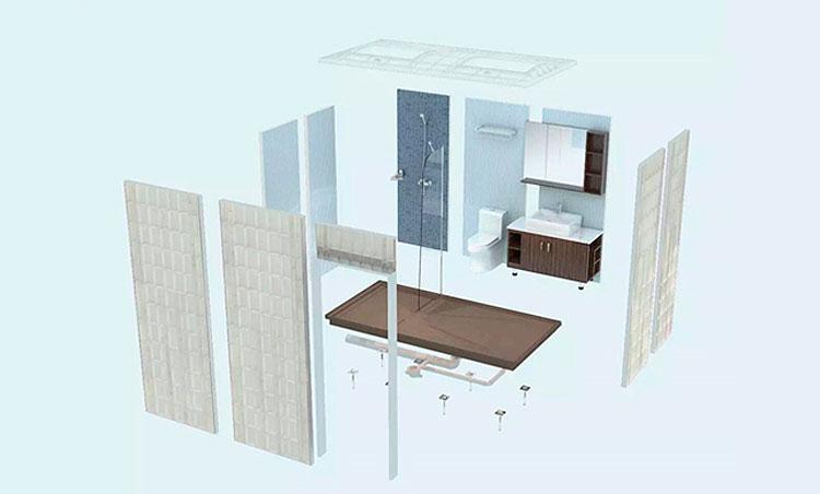 Набор элементов модульной ванной комнаты, SanModul
