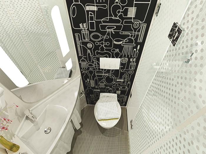 Модульная ванная комната в отеле Ibis