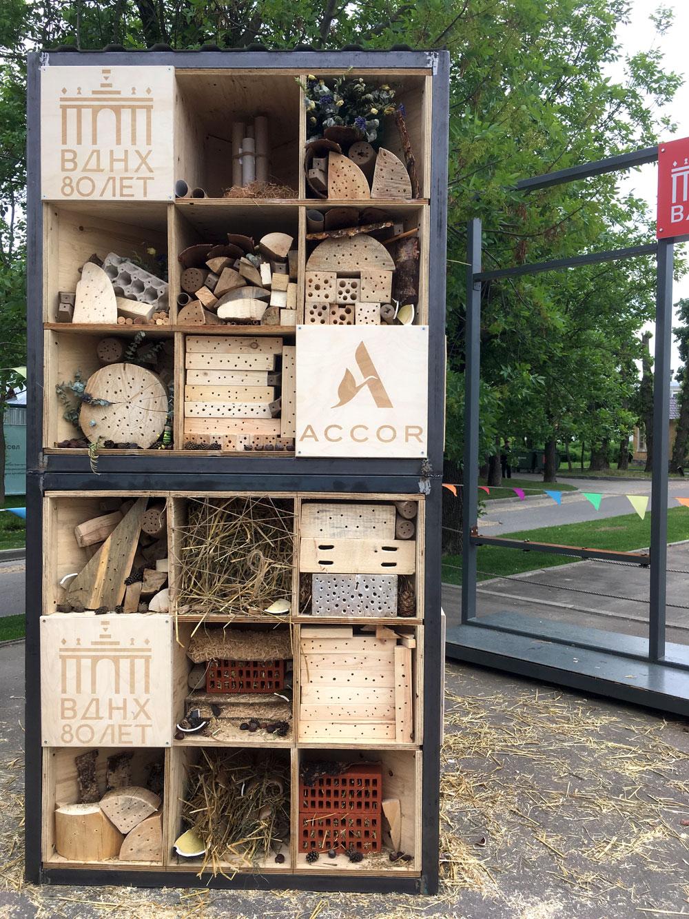 Группа Accor открыла на ВДНХ отель для насекомых